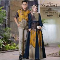 Baju Batik Couple Muslim Pakaian Bapak Ibu Busana Muslim Pesta Pria