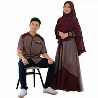 baju gamis couple kapel lebaran pria wanita muslim muslimah pakaian