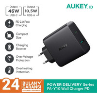 KABEL DATA 60695 AUKEY CHARGER PA Y10 2 PORTS 56 5W USB C PD 3 0