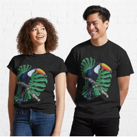 Kaos Toucan In Tropical Forest In Brazil 551 Unisex T-Shirt