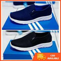 Sepatu Adidas Tanpa Tali Sneakers Pria Olahraga Running Slop Santai