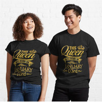 Kaos This Queen Was Born On January 3Rd 689 Unisex T-Shirt