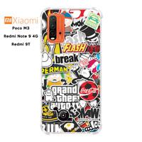 Casing Xiaomi Poco M3 Redmi 9T Note 9 4G Softcase Anticrack Sticker 2