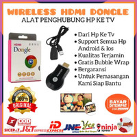 Jual [ ] WIRELESS HDMI DONGEL ANYCASH MIRACAST DONGLE RECEIVER