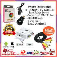PAKET ANYCAST HDMI DONGLE DARI HP KE TV TABUNG HDMI2AV ANYCASH KABEL