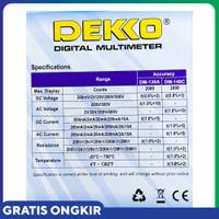 Promo Multitester Multimeter Avometer Digital DM-136A Dekko me