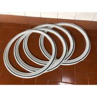 Lis ban lisban ring 17 putih strip hitam isi 4 untuk motor s [ACC50]