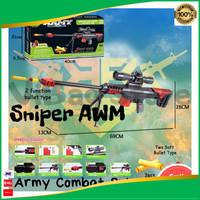 Pistol Nerf AWM PUBG Free Fire CODM Mainan Tembakan Peluru Busa Soft