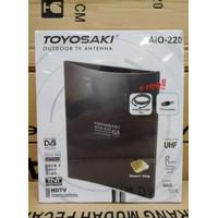 Original Antene Tv Toyosaki 220 Plus 10M kabel antene outdoor luar