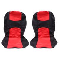 Cover Sarung Jok Depan Belakang Mobil Universal 5 Kepala Warna Merah H