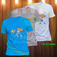 volly kartun baju Baju volleyball pria cewe kaos voly wanita Perempuan