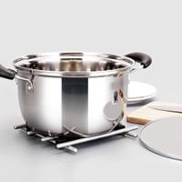 20 Steel Stainless masak cm tutup Panci 555 SA