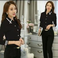 - - Blouse WANITA -ALDA TERLARIS Korea - Atasan Korean - Pakaian WANIT