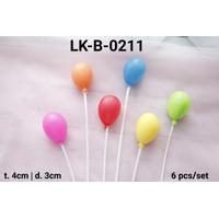 LK-B-0211 Topper kue tart lokal topper cake balon plastik