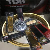 jari jari tromol velg TDR 140 140 ring 17 gold supra x125 paketan