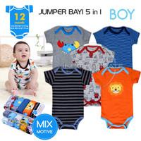 0-2 Anak Bayi Baju Jumsuit BC-01-4 Tahun 5in1 Newborn Jumpsuit Laki-La