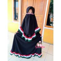 EK - Baju Gamis Palestina Anak motif Ruflle free cadar tali