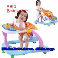 4 in 1 Baby Walker Stroller | Alat Bantu Balita Anda Belajar Berjalan