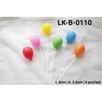 LK-B-0110 Topper kue tart lokal topper cake balon plastik