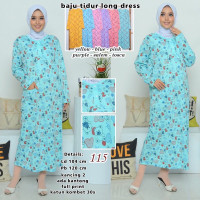 Terusan Tidur Panjang Baju Daster Baju Muslimah Lilipop Wanita Long Bu