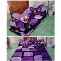 Karpet Lipat Karakter minimalis batu ungu tebal 12cm bahan halus dan