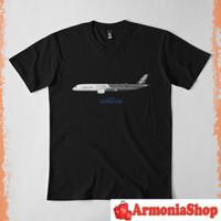 Kaos T-Shirt Armonia Illustration Of Airbus A350 Fwwcf 4099