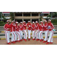 Fitness Olahraga Lapangan Training Putih Senam Aerobic Baju Zumba Musl