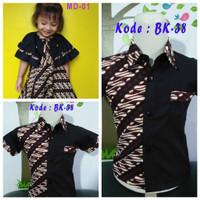 adik Baju Batik bagus Kekinian dress kemeja Couple Couple Anak kakak M