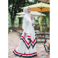 set hijab palestine palestina gamis gamis palestin khimar putih baju