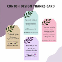 Kasih Shop Ucapan Custome Kartu Card Card Thank Toko Online Terima You