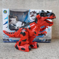 dino trex dinasaurus robot anak hewan edukasi Mainan batre