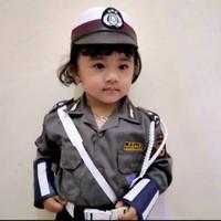 Polisi Cilik Baju Polwan Seragam Anak Anak Polwan Wanita GROSIR