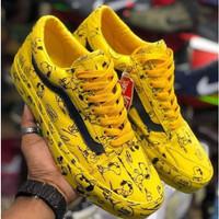 hitam sneaker sepatu - snopy vans pria PROMO main SNOOPY kuning oldsko
