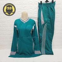 Olahraga Senam Stelan Wanita Trening Muslimah Olahraga Setelan 1 Baju