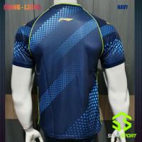 Import Baju Li-Ning Navy Pingpong Kaos Tenis Lining Premium Meja Badmi