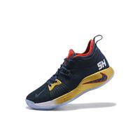 Sepatu Basket Desain Nike PG 2 EP Zoom Warna Biru Tua