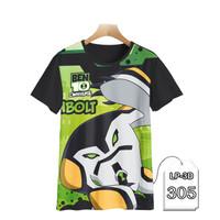 Baju Anak Ben 10 Series 3D Kaos Kartun TV Series #LP3D-305 - Anak 1-2 tahun