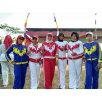 Lapangan Pendek Baju Fitness Hijab Aerobic Panjang Putih Cycling Zumba