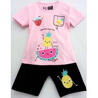 Setelan Anak Perempuan Semangka Pink 1-10 Tahun