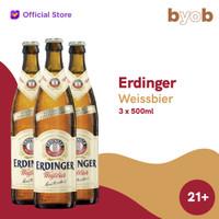 Erdinger Weissbier Beer - 500ml (3 bottles)