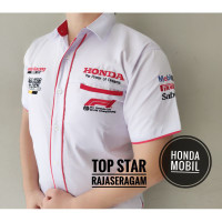 Moto F1 Otomotif HONDA Kemeja Bordir MOBIL Seragam Komunitas Baju GP