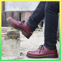 New SEPATU Low Boots Docmart 1461 Smooth Dr Martens 3 hole lub