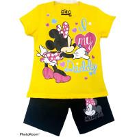Setelan Anak Perempuan Minnie Lil Daddy Kuning 1-10 Tahun