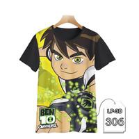 Baju Anak Ben 10 Series 3D Kaos Kartun TV Series #LP3D-306 - Anak 1-2 tahun