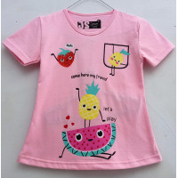 Kaos Anak Perempuan Semangka Pink 1-10 Tahun