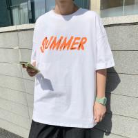 Pria gemuk lengan pendek t-shirt musim panas laki-laki yang baru