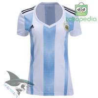 KAOS JERSEY BAJU BADMINTON BR4T888 LADIES ARGENTINA HOME NEW WORLD CUP