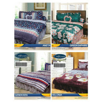 BIG SALE BED COVER SET CALIFORNIA MY LOVE KING 180X200 BADCOVER BC AN