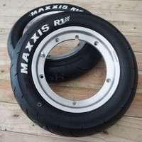 Paket Velg Tubeless GS FA Polish X Ban Maxxis R10 3.50
