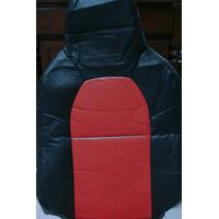 SARUNG JOK MOBIL BRIO 1 SET VINYL MERAH KOMBINASI HITAM SB SEAT COVER